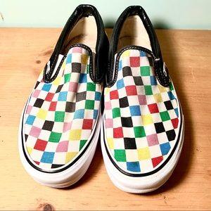 Rare Rainbow checkerboard vans